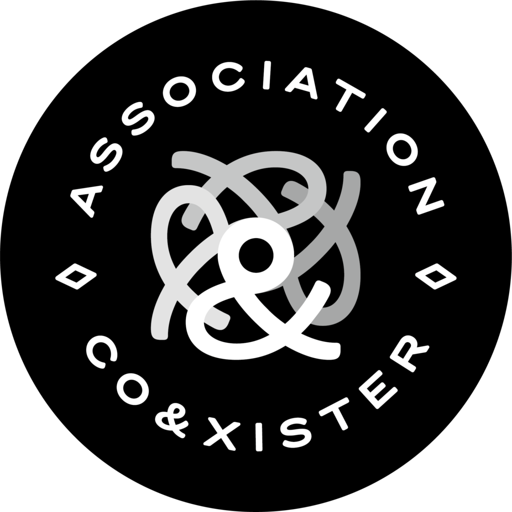 association 3 questions à… Association Co&xister COEXISTER logo noir cercle v3 1024x1024